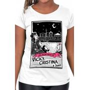 Camiseta Branca O Amor em Cordel: Vicky, Cristina e Juan