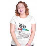 Camiseta Branca O País do Carnaval