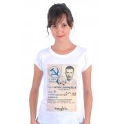 Camiseta Branca O Poeta Marighella