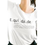 Camiseta Branca O que é Equidade?
