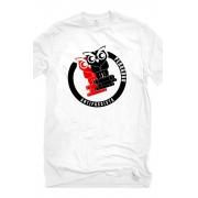 Camiseta Branca Pedagogo Antifascista