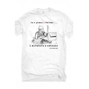 Camiseta Branca Plano B do Alfabeto