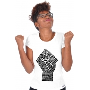 Camiseta Branca Poder Negro