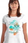 Camiseta Branca Rosa Luxemburgo