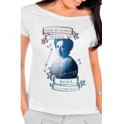 Camiseta Branca Rosa Luxemburgo: O Idealismo de Peixes