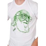 Camiseta Branca Rostos Letrados: Paulo Freire