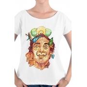 Camiseta Branca Rostos Letrados: Salvador Dali