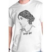 Camiseta Branca Rostos Letrados: Virginia Woolf