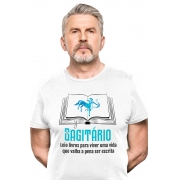 Camiseta Branca Sagitarianos leitores