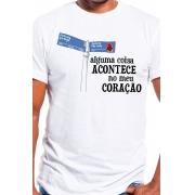Camiseta Branca Sampa: alguma coisa acontece