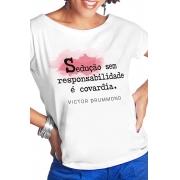 Camiseta Branca Sedução irresponsável