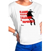 Camiseta Branca Sejamos realistas