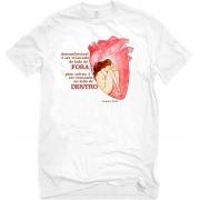 Camiseta Branca Trancada em Virginia Woolf