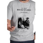 Camiseta Cinza Capa de Livro Os Três Mosqueteiros