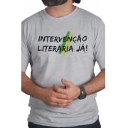 Camiseta Cinza Intervenção Literária Já