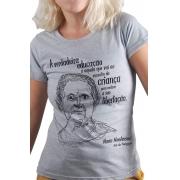 Camiseta Cinza Montessori, Mãe da Pedagogia