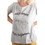 Camiseta Cinza Nossos Beijinhos