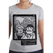 Camiseta Cinza O Amor em Cordel: Anita e Giuseppe