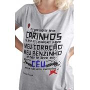 Camiseta Cinza O Amor em Cordel: Silvino Pirauá