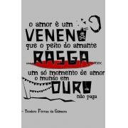 Camiseta Cinza O Amor em Cordel: Teodoro Ferraz