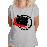 Camiseta Cinza Professora Antifascista