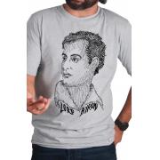 Camiseta Cinza Rostos Letrados: Lord Byron