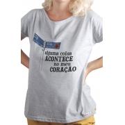 Camiseta Cinza Sampa: alguma coisa acontece