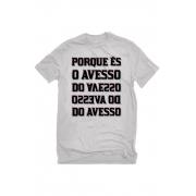Camiseta Cinza Sampa: Avesso do Avesso