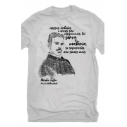 Camiseta Cinza Tesla, pai da eletricidade