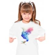 Camiseta Infantil Branca A Poesia de Cada Dia