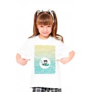 Camiseta Infantil Branca Blá blá blá