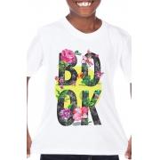 Camiseta Infantil Branca Book