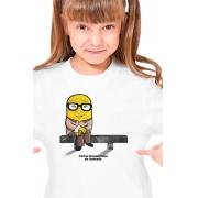 Camiseta Infantil Branca Carlos Drumminion