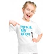 Camiseta Infantil Branca Escolha ser Gentil