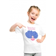 Camiseta Infantil Branca Ler não dá sono ler dá sonhos