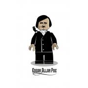 Camiseta Infantil Branco Lego Edgar Allan Poe