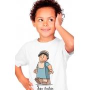 Camiseta Infantil Branco Lego Jane Austen