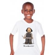Camiseta Infantil Branco Lego Shakespeare