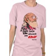 Camiseta Rosa Paulo Freire