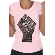 Camiseta Rosa Poder Negro