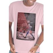 Camiseta Rosa Romance Versus Conto