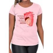 Camiseta Rosa Trancada em Virginia Woolf