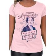 Camiseta Rosa Virginia Woolf: A Vanguarda de Aquário