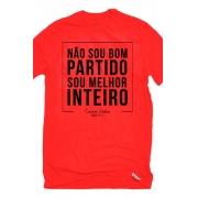 Camiseta Vermelha Bom Partido