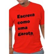 Camiseta Vermelha Escreva como uma garota