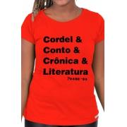 Camiseta Vermelha Helvética Poética