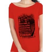 Camiseta Vermelha Pão e Poesia