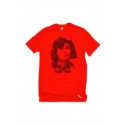 Camiseta Vermelha Rostos Letrados: Florbela Espanca