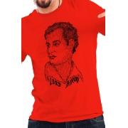 Camiseta Vermelha Rostos Letrados: Lord Byron
