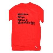 Camiseta Vermelha Versificação